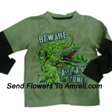 "productA Trendy T-Shirt For Your Champ. (You Can Mention Size Required/Age Of Kid In The ""Special Request To Florist"" Column Which Will Appear During The Shopping Process)"
