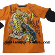 """productA Trendy T-Shirt For Your Champ. (You Can Mention Size Required/Age Of Kid In The """"Special Request To Florist"""" Column Which Will Appear During The Shopping Process)"""
