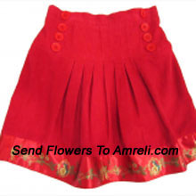 A Designer Skirt For Your Girl. (You Can Mention Size Required/Age Of Kid In The