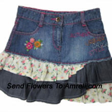 "productA Designer Skirt For Your Angel. (You Can Mention Size Required/Age Of Kid In The ""Special Request To Florist"" Column Which Will Appear During The Shopping Process)"