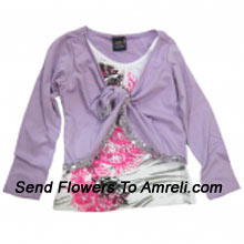 "productA Cute Designer Top For Your Angel. (You Can Mention Size Required/Age Of Kid In The ""Special Request To Florist"" Column Which Will Appear During The Shopping Process)"