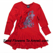 "productA Cute Designer Frock For Your Princess. (You Can Mention Size Required/Age Of Kid In The ""Special Request To Florist"" Column Which Will Appear During The Shopping Process)"