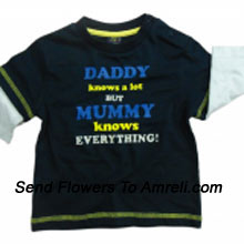 """productA Very Adorable T-Shirt For Your Baby. (You Can Mention Size Required/Age Of Kid In The """"Special Request To Florist"""" Column Which Will Appear During The Shopping Process)"""