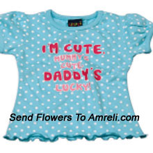 "productPamper Your Kid With This Lovely Top. 100% Cotton. (You Can Mention Size Required/Age Of Kid In The ""Special Request To Florist"" Column Which Will Appear During The Shopping Process)"