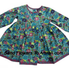 "productAn Exclusive Designer Frock For Your Little Angel. (You Can Mention Size Required/Age Of Kid In The ""Special Request To Florist"" Column Which Will Appear During The Shopping Process)"