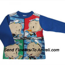 """productDelight Your Baby With This Cute Cartoon Character T-Shirt (You Can Mention Size Required/Age Of Kid In The """"Special Request To Florist"""" Column Which Will Appear During The Shopping Process)"""