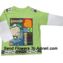 "productDelight Your Baby With This Cute Cartoon Character T-Shirt (You Can Mention Size Required/Age Of Kid In The ""Special Request To Florist"" Column Which Will Appear During The Shopping Process)"