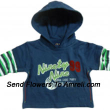 """productA Cute Sweat Shirt For Your Baby (You Can Mention Size Required/Age Of Kid In The """"Special Request To Florist"""" Column Which Will Appear During The Shopping Process)"""