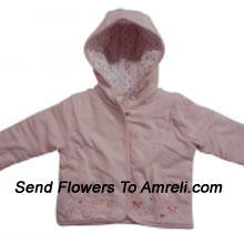 """productA Jacket For Your Baby With A Little Floral Print (You Can Mention Size Required/Age Of Kid In The """"Special Request To Florist"""" Column Which Will Appear During The Shopping Process)"""