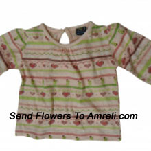 "productDelight Your Little Angel With This Cute Top. 100 % Cotton. (You Can Mention Size Required/Age Of Kid In The ""Special Request To Florist"" Column Which Will Appear During The Shopping Process)"