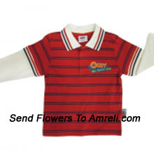 """productA Trendy T-Shirt For Your Boy. (You Can Mention Size Required/Age Of Kid In The """"Special Request To Florist"""" Column Which Will Appear During The Shopping Process)"""