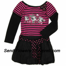 "productA Nice Cartoon Character Dress For Your Angel. (You Can Mention Size Required/Age Of Kid In The ""Special Request To Florist"" Column Which Will Appear During The Shopping Process)"