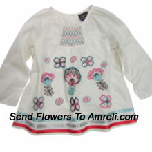 """productMake Your Little Angel Jump With This Cute Floral T-Shirt. (You Can Mention Size Required/Age Of Kid In The """"Special Request To Florist"""" Column Which Will Appear During The Shopping Process)"""