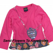 """productMake Your Little Angel Jump With This Cute Designer Top. (You Can Mention Size Required/Age Of Kid In The """"Special Request To Florist"""" Column Which Will Appear During The Shopping Process)"""