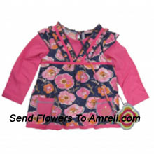 """productA Cute Floral Top. (You Can Mention Size Required/Age Of Kid In The """"Special Request To Florist"""" Column Which Will Appear During The Shopping Process)"""