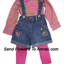 """productA Trendy Dress For Your Baby. (You Can Mention Size Required/Age Of Kid In The """"Special Request To Florist"""" Column Which Will Appear During The Shopping Process)"""