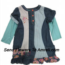 "productA Cute Designer Frock For Your Angel. (You Can Mention Size Required/Age Of Kid In The ""Special Request To Florist"" Column Which Will Appear During The Shopping Process)"