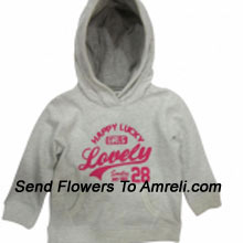 "productA Cute Sweat Shirt For Your Baby. (You Can Mention Size Required/Age Of Kid In The ""Special Request To Florist"" Column Which Will Appear During The Shopping Process)"