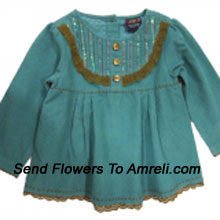 """productA Cute Top For Your Little Baby Girl. (You Can Mention Size Required/Age Of Kid In The """"Special Request To Florist"""" Column Which Will Appear During The Shopping Process)"""