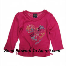 "productMake Your Little Angel Jump With This Trendy Top. (You Can Mention Size Required/Age Of Kid In The ""Special Request To Florist"" Column Which Will Appear During The Shopping Process)"