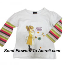 "productMake Your Little Angel Jump With This Cute Cartoon Character T-Shirt. (You Can Mention Size Required/Age Of Kid In The ""Special Request To Florist"" Column Which Will Appear During The Shopping Process)"