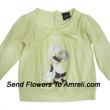 """productMake Your Little Angel Jump With This Cute Cartoon Character T-Shirt. (You Can Mention Size Required/Age Of Kid In The """"Special Request To Florist"""" Column Which Will Appear During The Shopping Process)"""