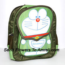 A School Bag For Children Who Are Big Fans Of A Cartoon Character Doraemon ( The Color Of The Bag May Vary Subject To The Availability )