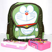 productA School Combo That Includes A Doraemon Bag, Lunch Box And A Pencil Box ( The Color Of The Products May Vary Subject To The Availability )