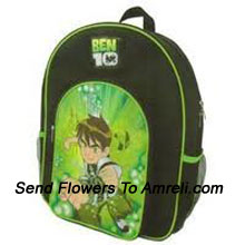 A School Bag For Children Who Are Big Fans Of Ben 10 ( The Color Of The Bag May Vary Subject To The Availability )