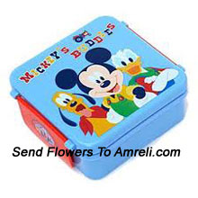 productA Mickey Mouse Lunch Box For Your Little Ones( The Color Of The Lunch Box May Vary Subject To The Availability )