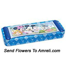 productA Mickey Mouse Pencil Box For Your Little Ones ( The Color Of The Pencil Box May Vary Subject To The Availability )