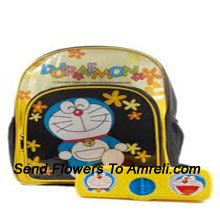productA Doraemon School Combo For Your Child That Includes A School Bag And A Pencil Box ( The Color Of The Products May Vary Subject To The Availability )