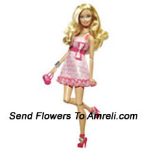 productSweet Barbie Doll. This Barbie Is Stylishly Dressed. Her Hairdo Is Perfectly Complementing Her Dress And Style. For Children Above 3 Years Of Age.