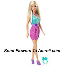 Barbie In Casual. This Barbie Is Dressed In A Very Stylish Manner With A Neat Hairdo. For Children Above 3 Years Of Age.