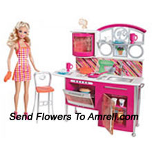 Barbie Kitchen Set. For Children Above 3 Years Of Age