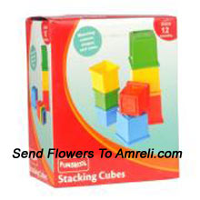 Funskool Stacking Cubes. The Most Loved Game Amoung Infants. It Helps Enhance A Child's Coordination Skills Aroung With Helping Them Knowing To Match The Colours And Shapes. For Kids Above 12 Months.