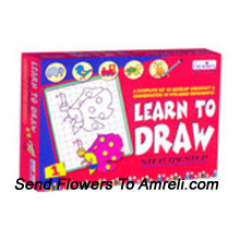 Learn To Draw-1. For The Little Ones Who Love To Draw. This Kit Is Not Only Fun But Will Also Sharpen Their Thinking Ability. For Children Of Age 4 Years And Above.