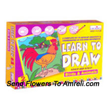 Learn To Draw-2. For The Ones Who Love To Draw. This Kit Is Not Only Fun But Will Also Sharpen Their Thinking Ability. For Children Of Age 4 Years And Above.