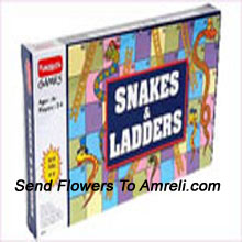 Snakes And Ladders From Funskool. This Game Has The Ability To Add the Time. For Children Above 4 Years.