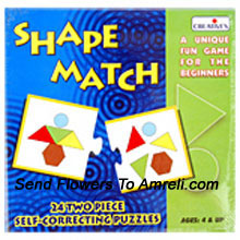 productShape Match. This Will Help Your Kid To Identify Basic Shapes And Will Learn Problem Solving Skills. Suitable For Children Of 4 Years And Above.