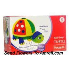 productFunskool Roly Poly Turtle. Attractive And Colourful Pull Along Turtle To Be Your Little Ones Friend. Funskool Has Designed This Roly Poly Turtle With Eye-Catching Colours And Clickety Clack Sound While Moving. For Kids Above 12 Months Of Age
