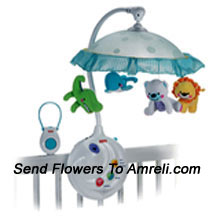 productPrecious Planet 2 In 1 Projection Mobile. This Is An Innovative Game For Kids. The Product Presents Animal Friends From Around The Planet That Twirl And Make The Baby Smile. As Its Music Plays , A Fascinating Light Show Dances Above. As Baby Grows You Can Remove The Mobile And Project The Show On The Ceiling With Sweet Music Or Sounds Playing Along. For Age Group-Below 5 Months.