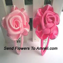 Pair Of Flower Shaped Hair Clips
