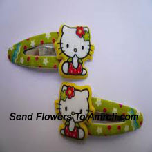 A Pair Of Hello Kitty Hair Clips