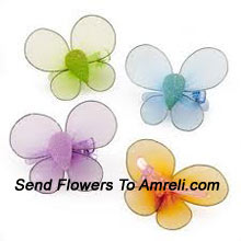 product2 Pairs Of Cute Butterfly Shaped Hair Clips
