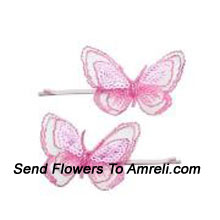 productPair Of Butterfly Shaped Hair Clips