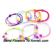 product8 Different Colored Rubber Bands To Match With Your Every Dress