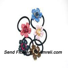 product5 Flower Shaped Cute Rubber Bands