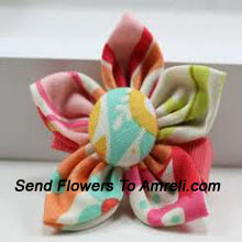 productA Flower Shaped Multi Colored Hair Clip