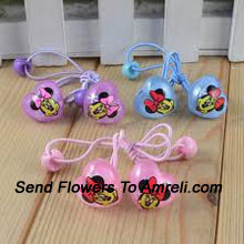 product3 Pairs Of Mickey Mouse Shaped Rubber Bands